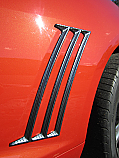 Retro USA Camaro Quarter Molding Set-Carbon Fiber Finish